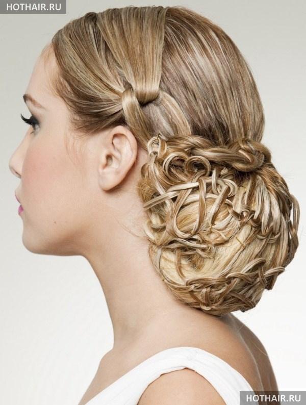 греческая прическа на длинные волосы