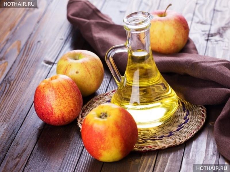 Ополаскиватель и маски с яблочным уксусом для волос
