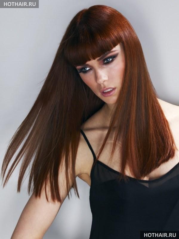 Стрижка одной длины на длинные волосы. Стрижка боб на длинные волосы