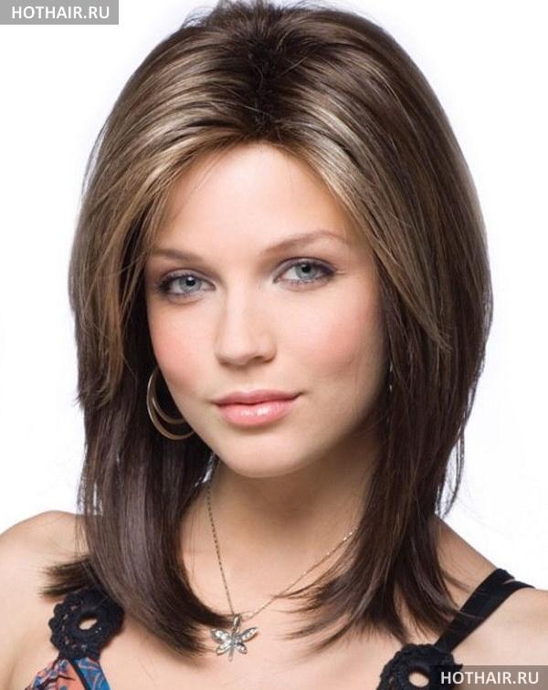стрижка на средние волосы без челки