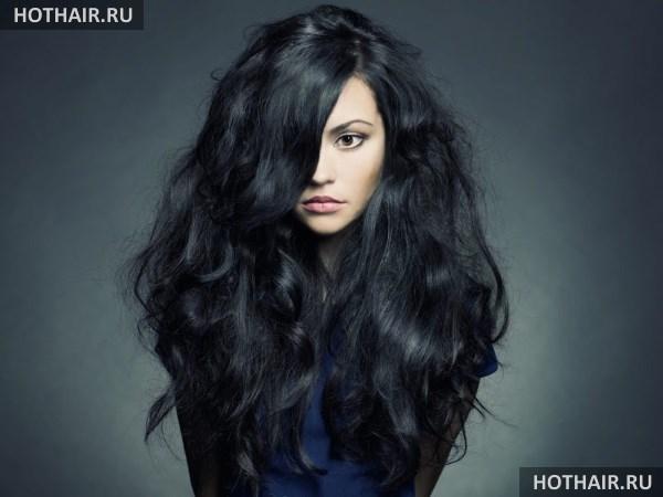 как окрасить черные волосы