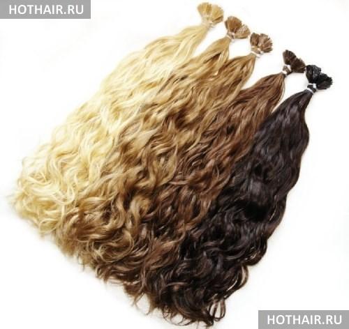 подбор прядей для наращивания волос