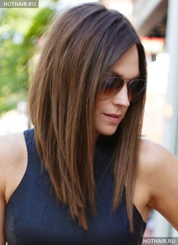 Стрижки на волосы чуть ниже плеч